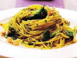 Espaguetis-con-espinacas-
