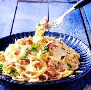 espaguetti con crema