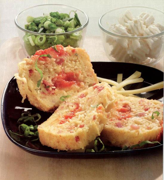pastel de macarrones con tomate