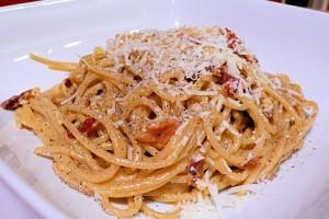 spaghetti a la cerveza