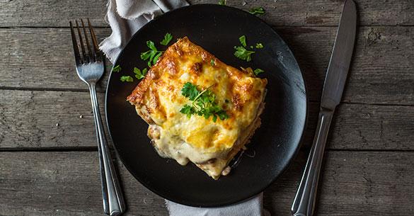 Lasagna de Jamón y Queso