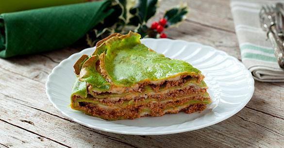 Lasagna con salsa verde