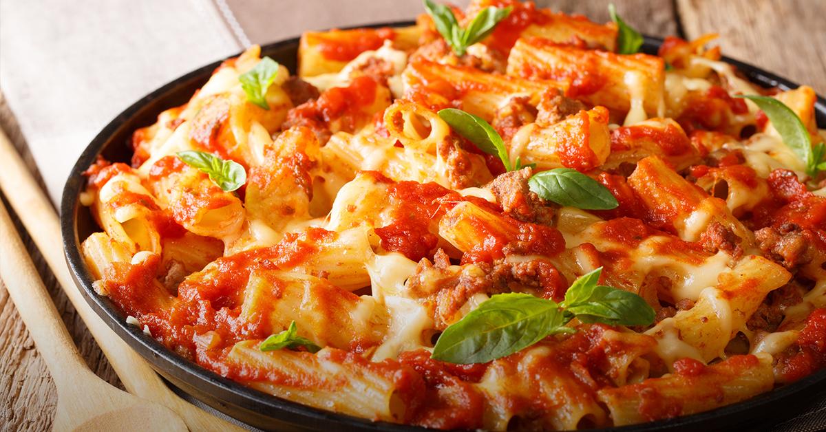 Mostacciolli en salsa bolognesa